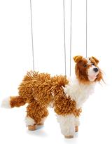 Brown & White Border Collie Puppet