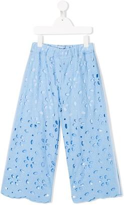 Mi Mi Sol Embroidered Straight Trousers
