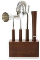 Nordstrom 4-Piece Stainless Steel & Wood Bar Set