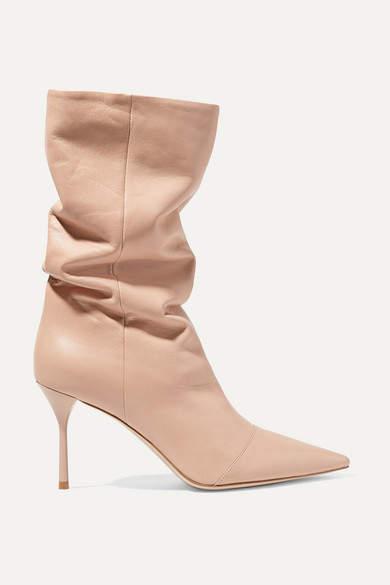 Miu Miu Leather Boots - Blush