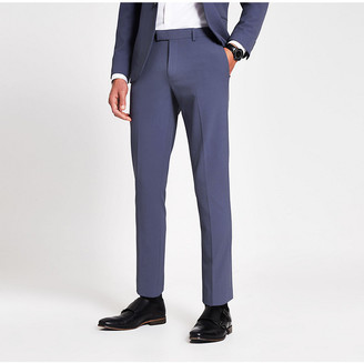 River Island Blue stretch skinny suit trousers