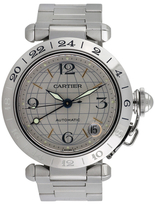 Cartier Vintage Pasha C GMT Stainless Steel Watch, 35mm