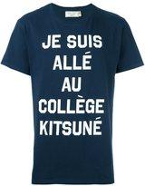MAISON KITSUNÉ 'je suis allé au collège' T-shirt - men - Cotton - L