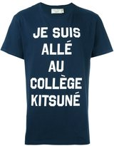 MAISON KITSUNÉ 'je suis allé au collège' T-shirt