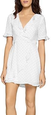 BCBGeneration Ruffled Polka-Dot Dress