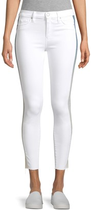 Hudson Jeans Barb High-Rise Racing Stripe Skinny Jeans
