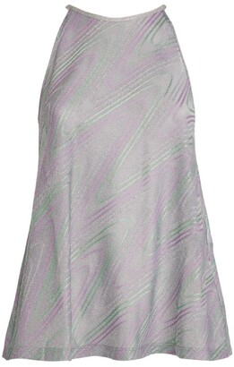 M Missoni Sleeveless Lurex Halterneck Top