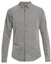 Giorgio Armani Point-collar Fil Coupé Cotton Shirt