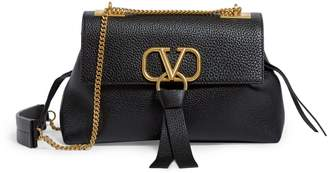 Valentino Garavani Leather V-Ring Shoulder Bag