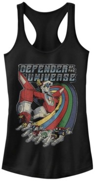 Fifth Sun Voltron Defender Of The Universe Rainbow Streaks Ideal Racer Back Tank