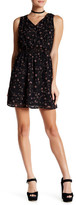 Dex Sleeveless & Smocked Floral Print Dress
