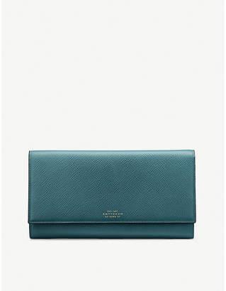 Smythson Panama Marshall leather travel wallet