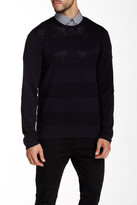 Kenneth Cole New York Techy Mesh Trim Sweater