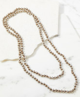 A Blonde And Her Bag A Blonde and Her Bag Women's Necklaces CRYSTAL - Gray & Brown Crystal Beaded Layering Necklace
