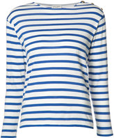 Saint Laurent striped top - women - Cotton - S