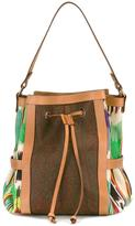 Etro embroidered trim tote - women - Cotton/Calf Leather/Polyester/PVC - One Size