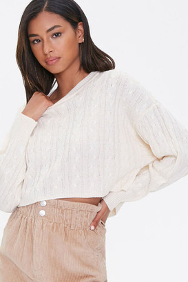 Forever 21 Cable Knit Batwing Sweater
