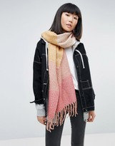 Pieces Striped Color Block Scarf