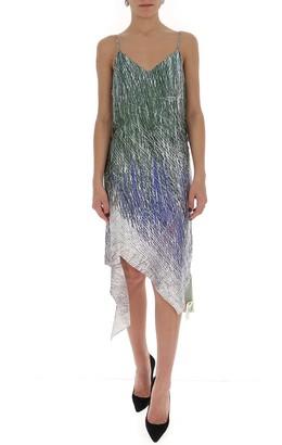 Off-White Asymmetric Slip Dress