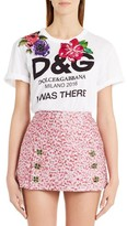 Dolce & Gabbana Women's I Was There Embellished Logo Tee