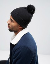 Asos Bobble Beanie In Black