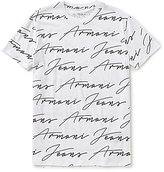 Armani Exchange Armani Jeans Allover Print Slim-Fit Short Sleeve Tee