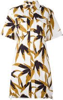 Marni swash print shirt dress - women - Cotton/Linen/Flax - 40