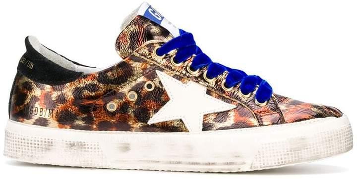 Golden Goose Superstar leopard-print sneakesr