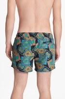 Topman Baroque Paisley Print Swim Trunks