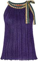 Missoni lace up top - women - Polyester/Cupro/Viscose - 40