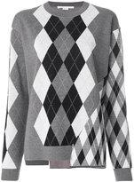 Stella McCartney mixed Argyle jumper - women - Virgin Wool - 38