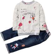 Zhuannian Baby Toddler Girls Flower Tops and Pants Sets