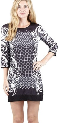 M&Co Izabel baroque print shift dress