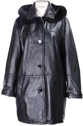 Non Signé / Unsigned Non Signe / Unsigned Oversize Black Leather Coats