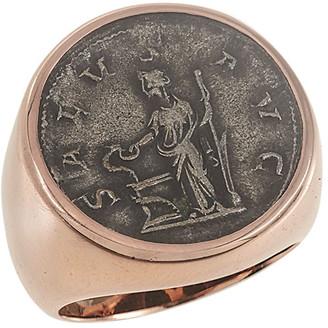 Jorge Adeler Men's Ancient Salus Coin 18K Gold Ring
