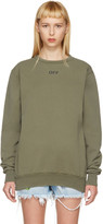 Off-White Green Washed Crewneck Pullover
