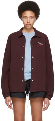 Noah NYC Burgundy Rugby Coaches Jacket