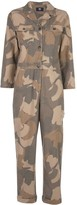 Wood Wood Irene camouflage print boiler suit