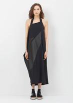 Issey Miyake black fragment halter dress