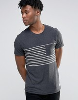 Selected Striped Pocket T-Shirt