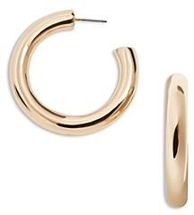 BaubleBar Dalilah Medium Tubular Hoop Earrings