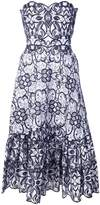 Jonathan Simkhai embroidered strapless flared dress