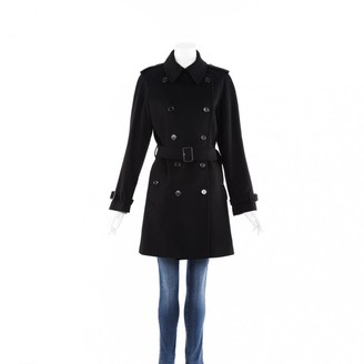 Burberry Black Wool Trench coats