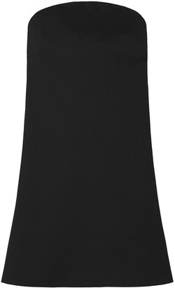 Strapless Swing Dress With Pockets