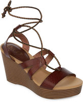 Groove Lyn Womens Wedge Sandals