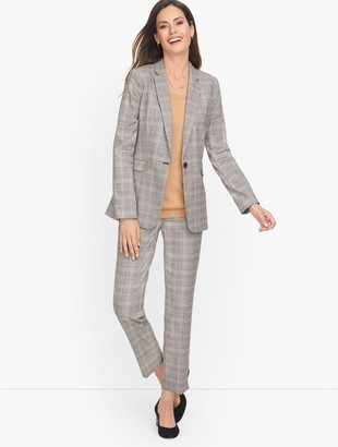 Talbots Glen Plaid Single Button Blazer