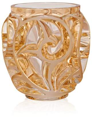 Lalique Small Gold Luster Tourbillons Vase