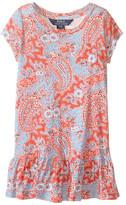 Polo Ralph Lauren Jersey Paisley Dress (Toddler)