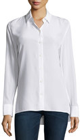 Rag & Bone Hayden Long-Sleeve Silk Blouse, White