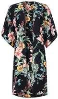 Wallis Black Lily Print Kimono Jacket